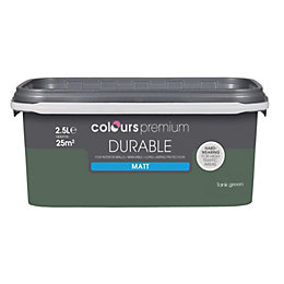 Colours Durable Tank Green Matt Emulsion Paint 2.5L