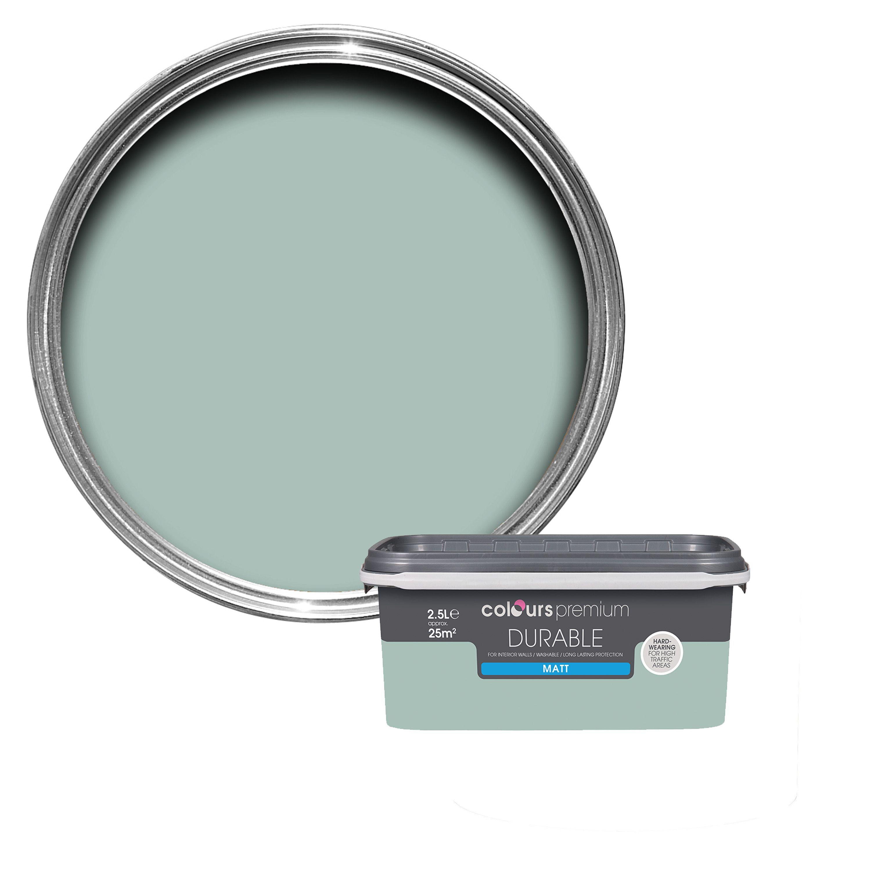 colours durable eau de nil matt emulsion paint 2 5l departments diy at b q. Black Bedroom Furniture Sets. Home Design Ideas