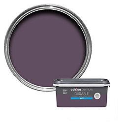 Colours Blackcurrant Matt Emulsion Paint 2.5L