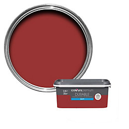 Colours Durable Classic Red Matt Emulsion Paint 2.5L