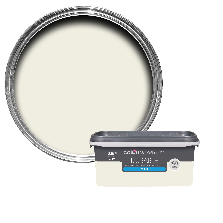 Colours Durable Antique White Matt Emulsion Paint 2.5l