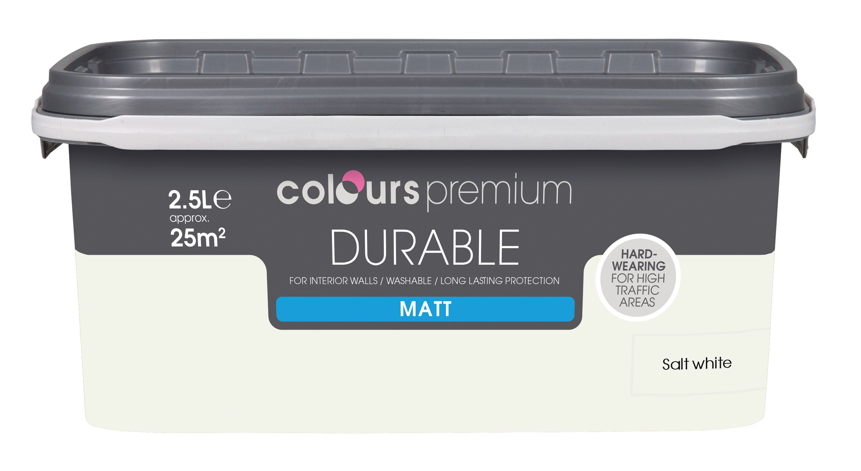 Colours Salt White Matt Emulsion Paint 2.5l