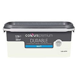 Colours Durable Salt White Matt Emulsion Paint 2.5L