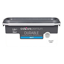 Colours Absolute White Matt Emulsion Paint 2.5L