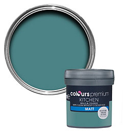 Colours Kitchen Barbados Blue Matt Emulsion Paint 50ml