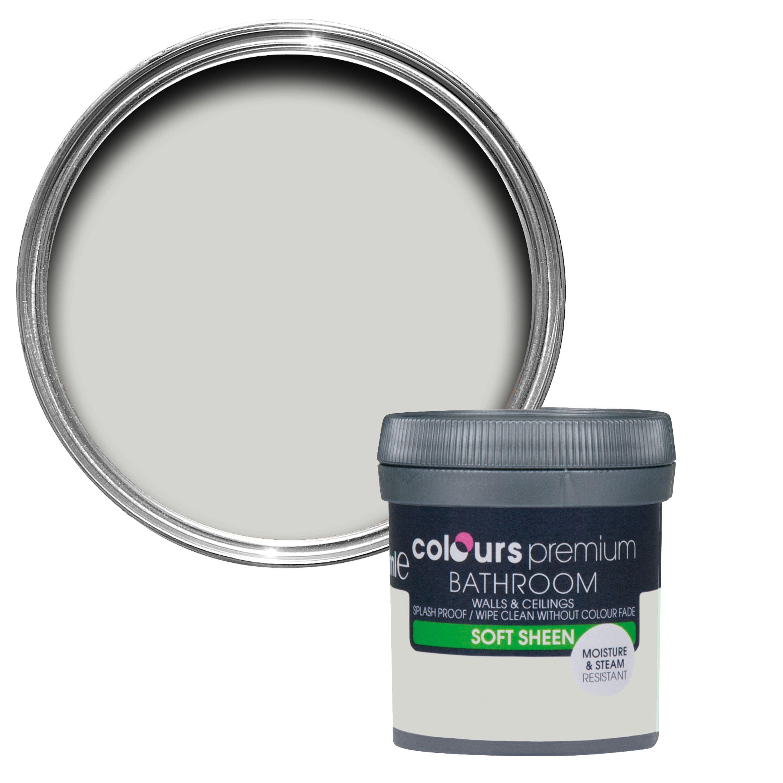 Colours Bathroom Grey Hints Soft Sheen Emulsion Paint 0.05l Tester Pot