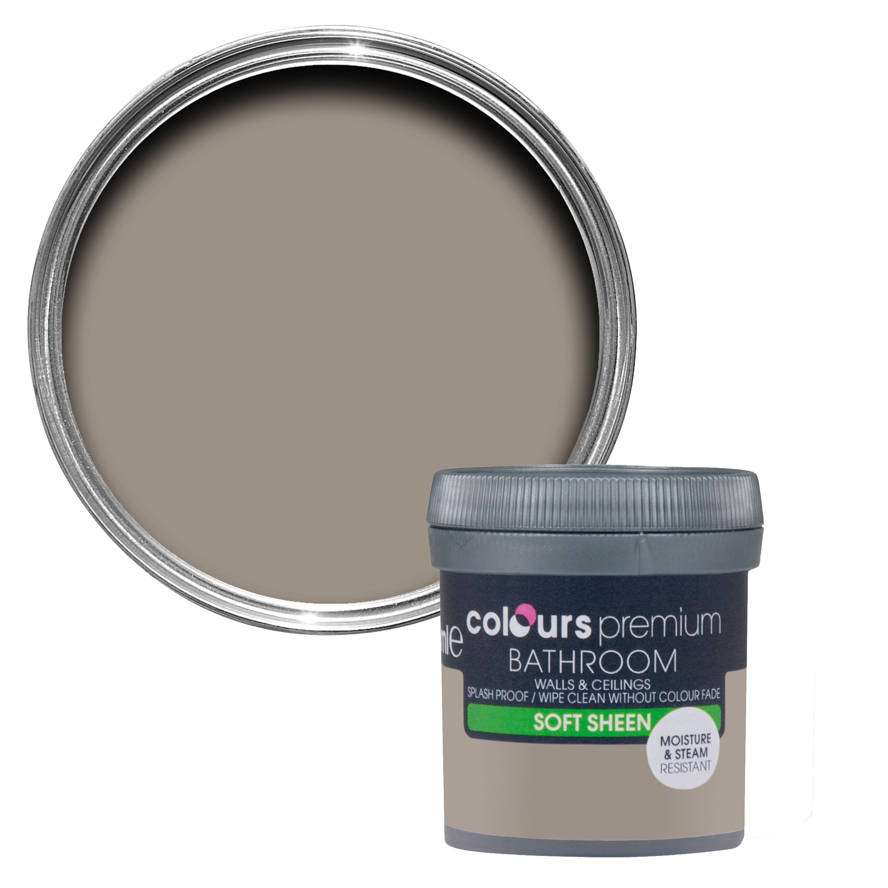 Colours bathroom taupe soft sheen emulsion paint for Soft taupe paint color