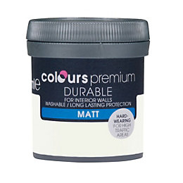 Colours Durable Salt White Matt Emulsion Paint 50ml