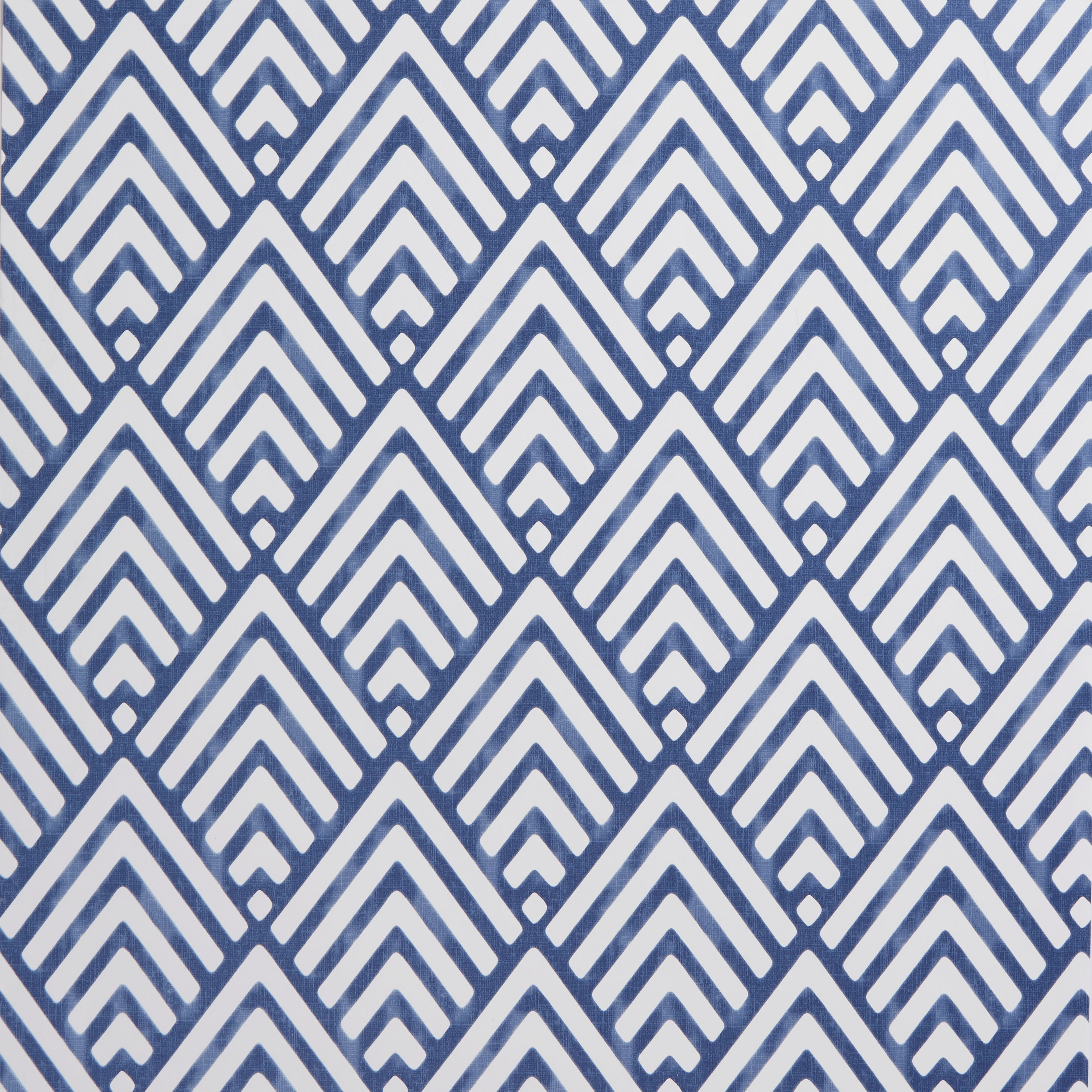 Colours Hadley Blue Geometric Mica Wallpaper Departments