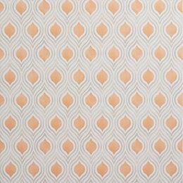 Colours Ailsa Burnt Orange Geometric Wallpaper