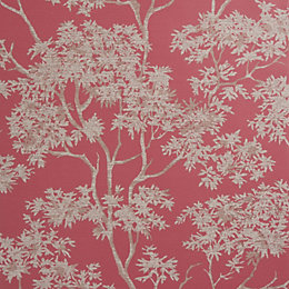 Colours Red Maple Tree Mica Wallpaper