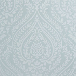 Colours Maya Duck Egg Damask Mica Wallpaper