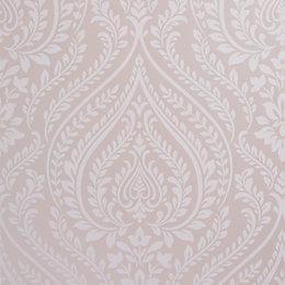 Colours Maya Blush Damask Mica Wallpaper
