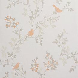Colours Nadia Burnt Orange Trees with Birds Mica