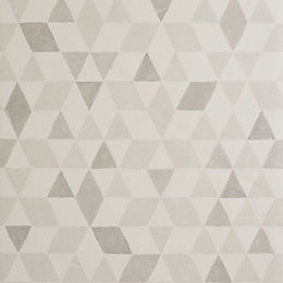 Colours Scandi Triangles Soft Grey Geometric Wallpaper