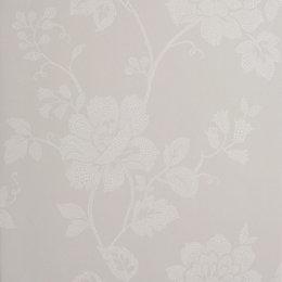 Colours Tara Dot French Grey Floral Wallpaper