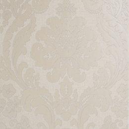 Colours Zara Silver Damask Glitter Wallpaper