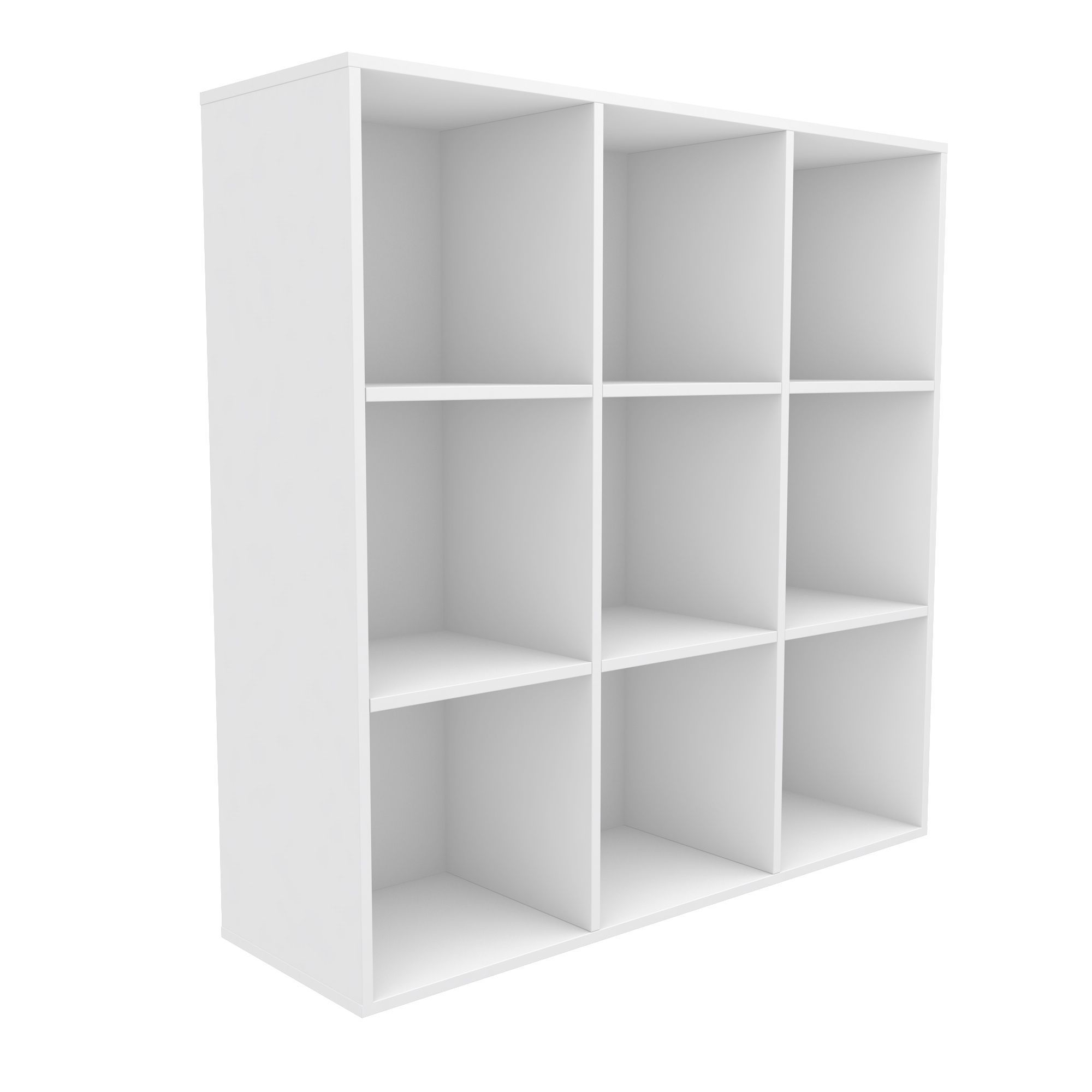 Bathroom Cabinets Uk Bq Form Konnect White 9 Cube Shelving Unit H1032mm W1032mm