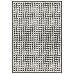 Colours Amara Beige & Grey Houndstooth Rug (L)1.6m