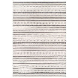 Colours Cece Black & Cream Rug (L)1.2m (W)0.6m
