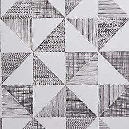 Colours Loki Black & White Geometric Wallpaper