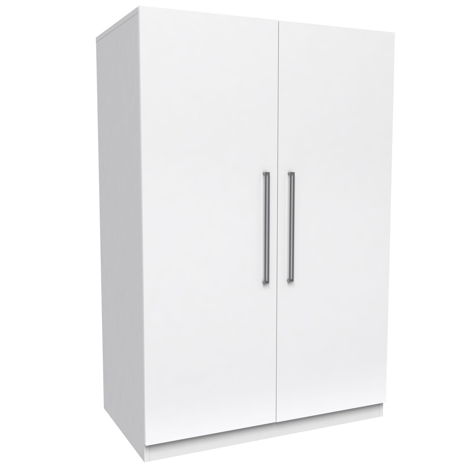 Darwin White 2 Door Wardrobe (h)1506mm (w)998mm