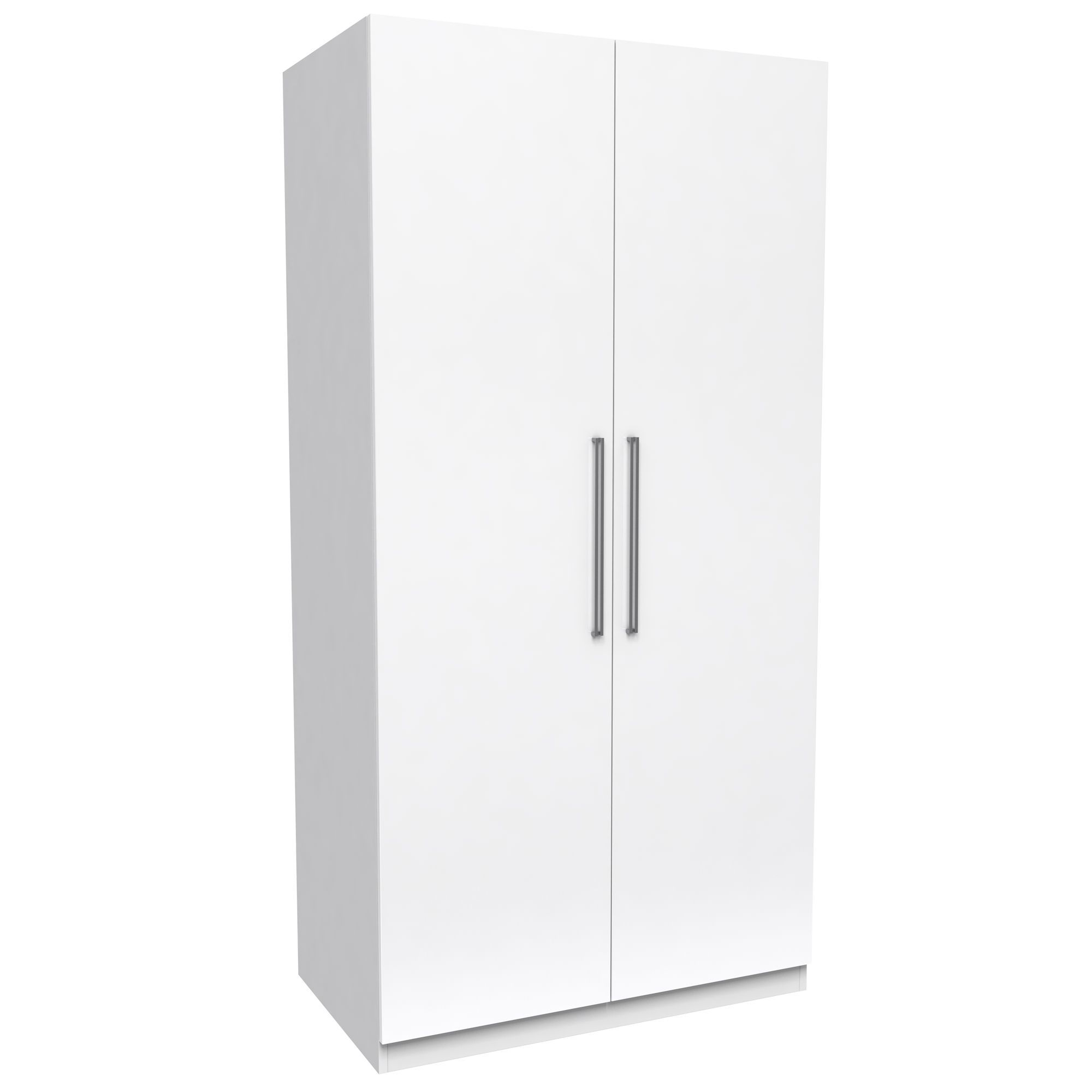 Darwin White 2 Door Wardrobe (H)2004Mm (W)998Mm