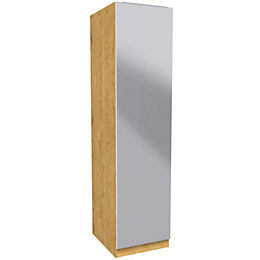 Darwin Handpicked Oak Effect & Mirror Single Wardrobe