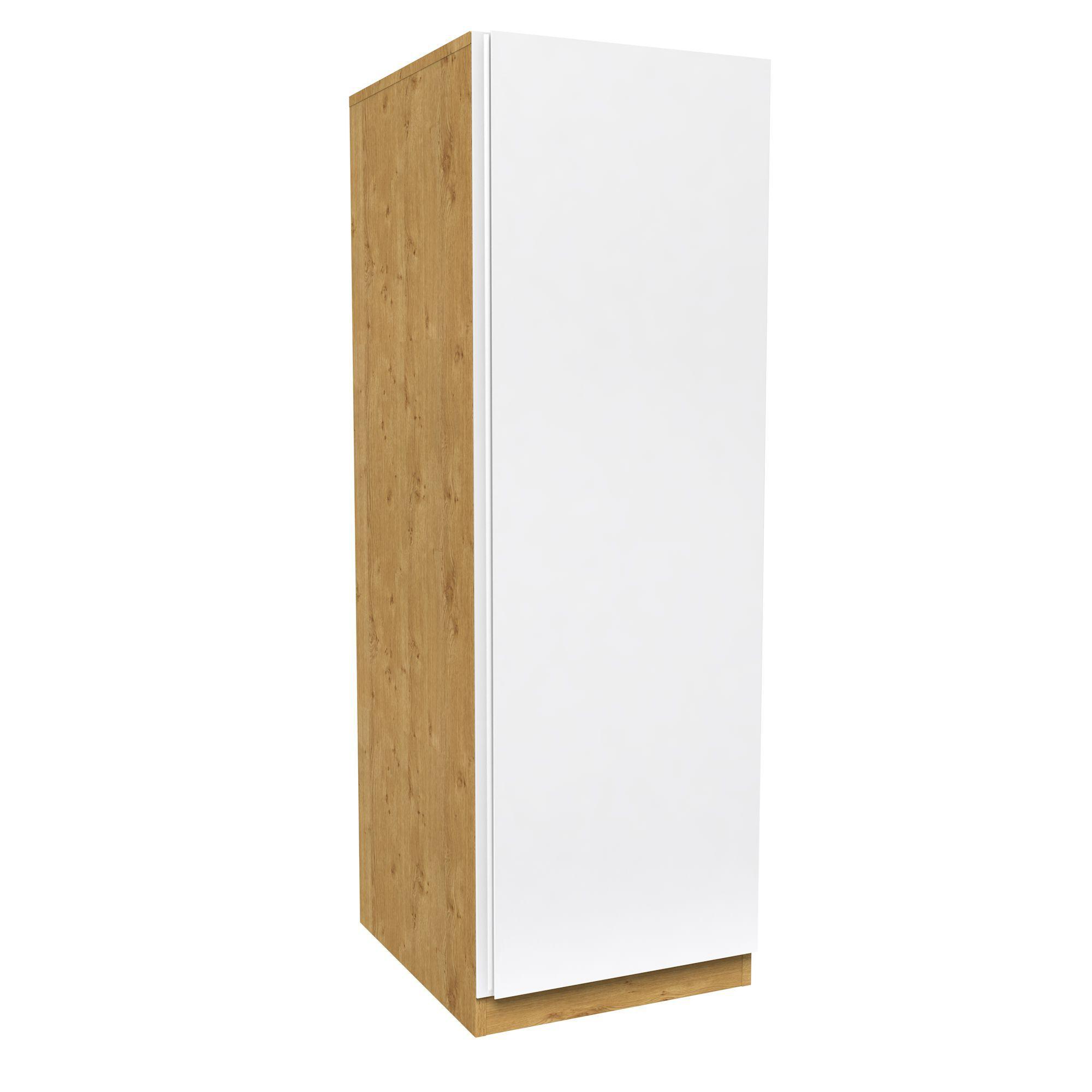 Darwin White & Oak Effect 1 Door Wardrobe (h)1506mm (w)500mm