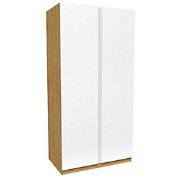 Darwin Handpicked Oak Effect Double Wardrobe