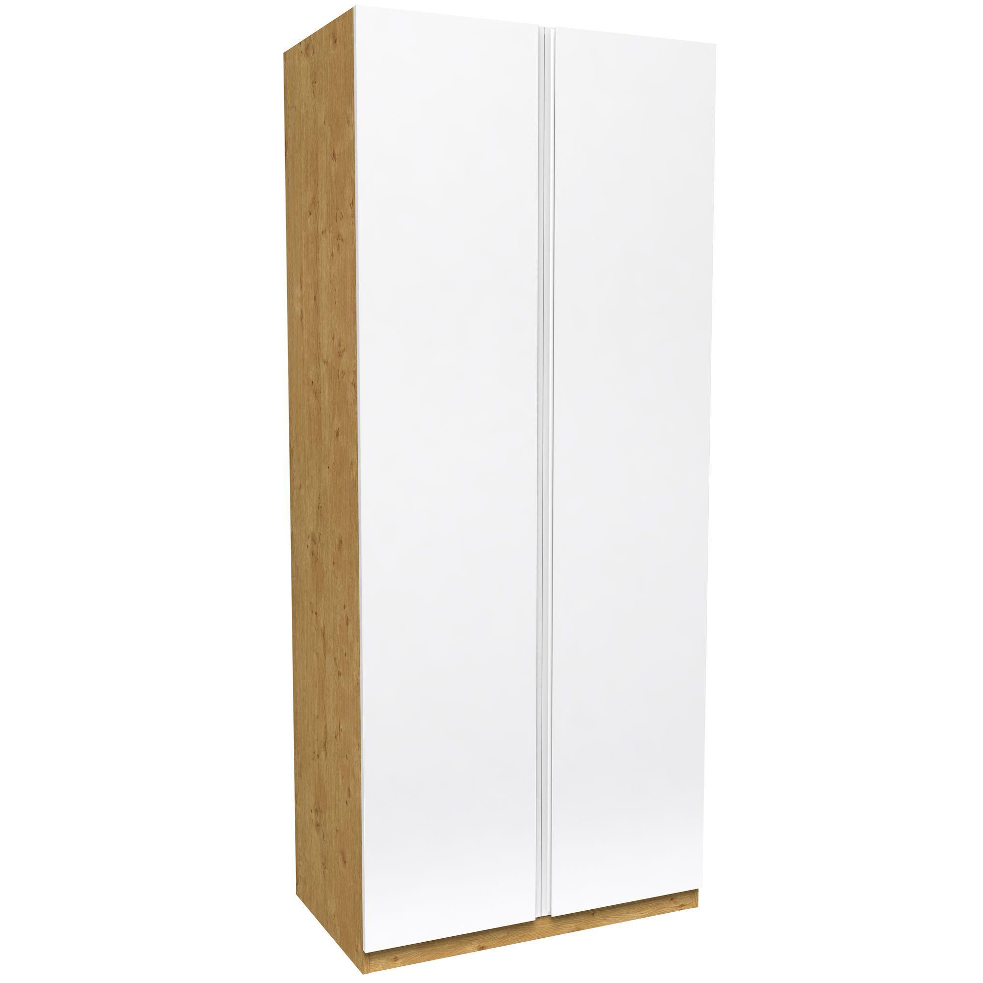 Darwin White & Oak Effect 2 Door Wardrobe (h)2356mm (w)998mm