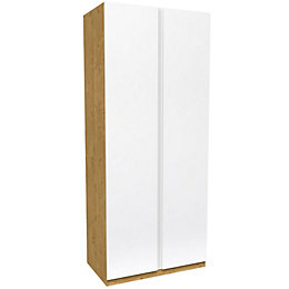 Darwin Handpicked Oak Effect Tall Double Wardrobe (H)2356