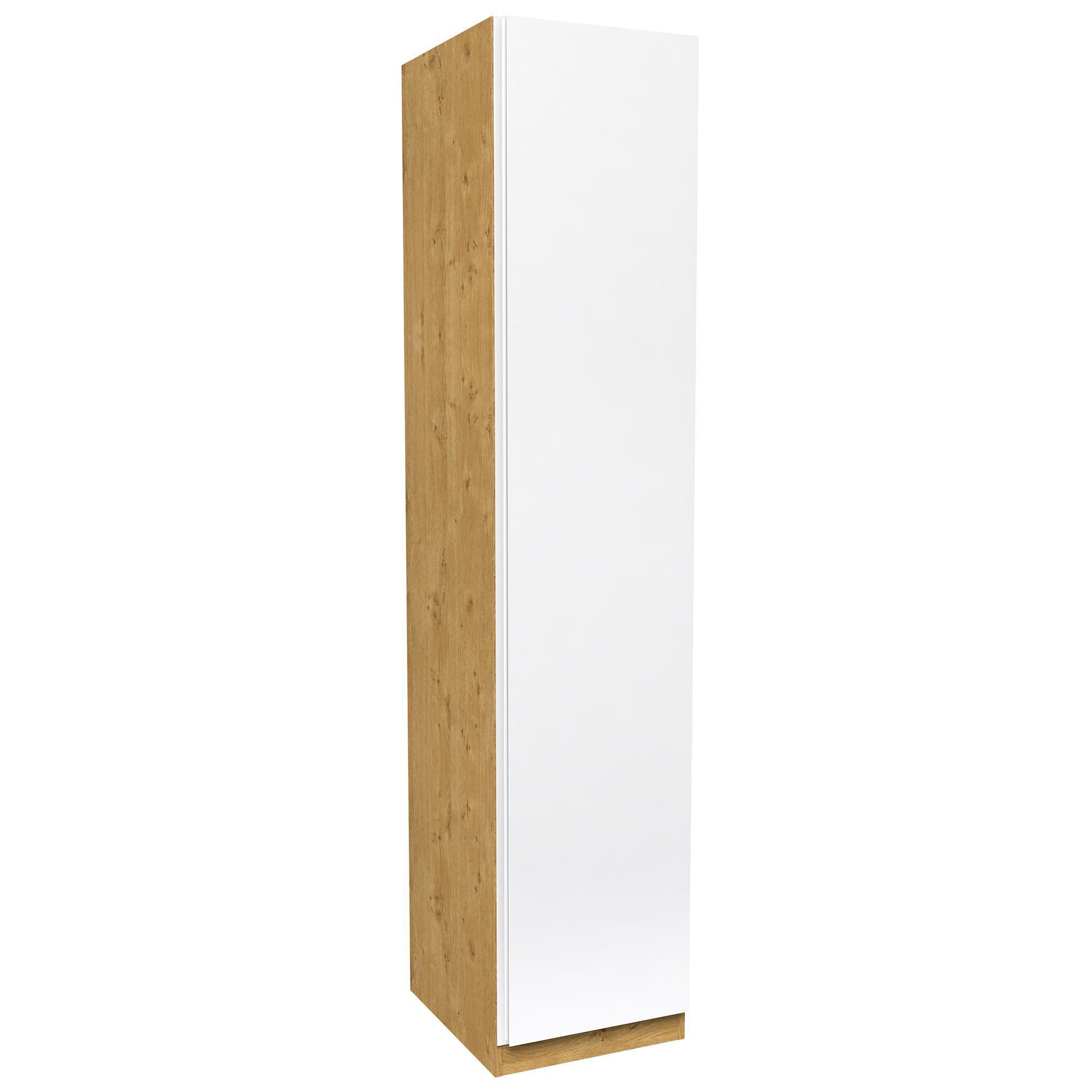 Darwin White & Oak Effect 1 Door Wardrobe (h)2356mm (w)499mm
