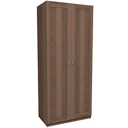Darwin Walnut Effect 2 Door Wardrobe (H)2356mm (W)998mm