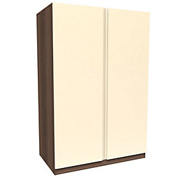 Darwin Cream & Walnut Effect 2 Door Wardrobe