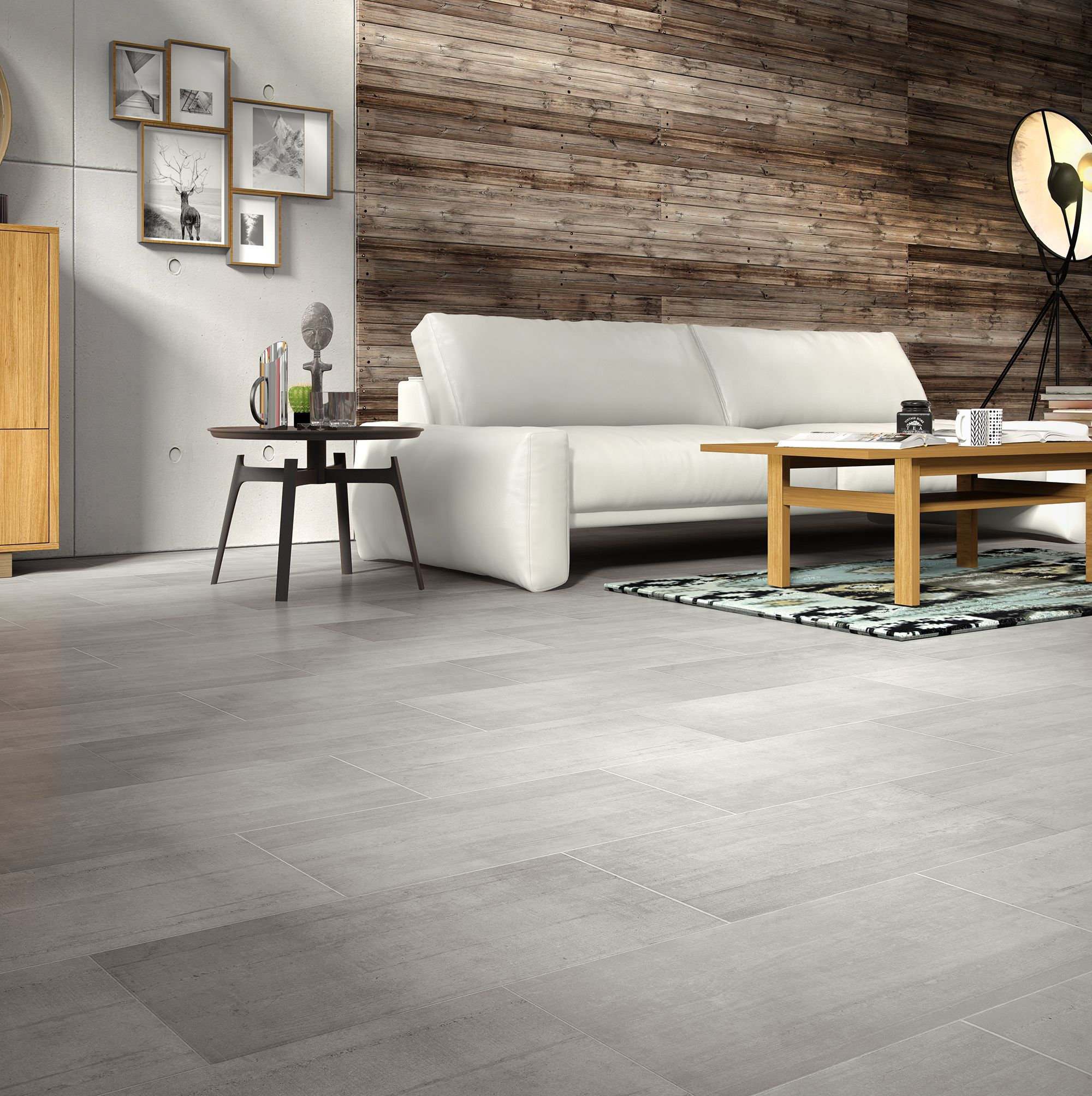 Leggiero Grey Concrete Effect Laminate Flooring 1.72 m²