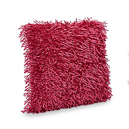 Nigella Shaggy Fuchsia Cushion