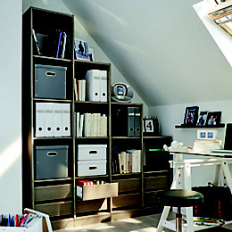 Form Perkin Grey Oak Effect Study Storage Unit