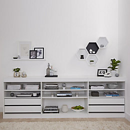 Form Perkin White Low Storage Unit Kit (H)856mm
