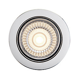 Diall Chrome Effect LED Tilt Downlight 7 W