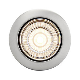 Diall Brushed Chrome Effect LED Tilt Downlight 7