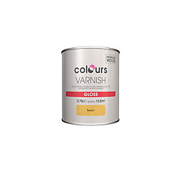 Colours Indoor Beech Gloss Wood Varnish 750ml