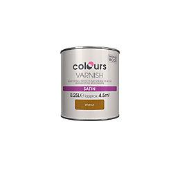 Colours Indoor Walnut Satin Wood Varnish 250ml