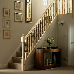 Colonial Pine 32mm Complete Banister Project Kit