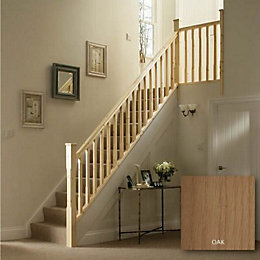 Chamfer Oak 41mm Complete Banister Project Kit