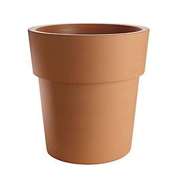 Solta Round Plastic Terracotta Painted Plant Pot (Dia)38cm