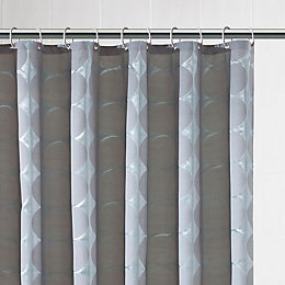 B&Q Grey Circular Shower Curtain (L)1.8 M