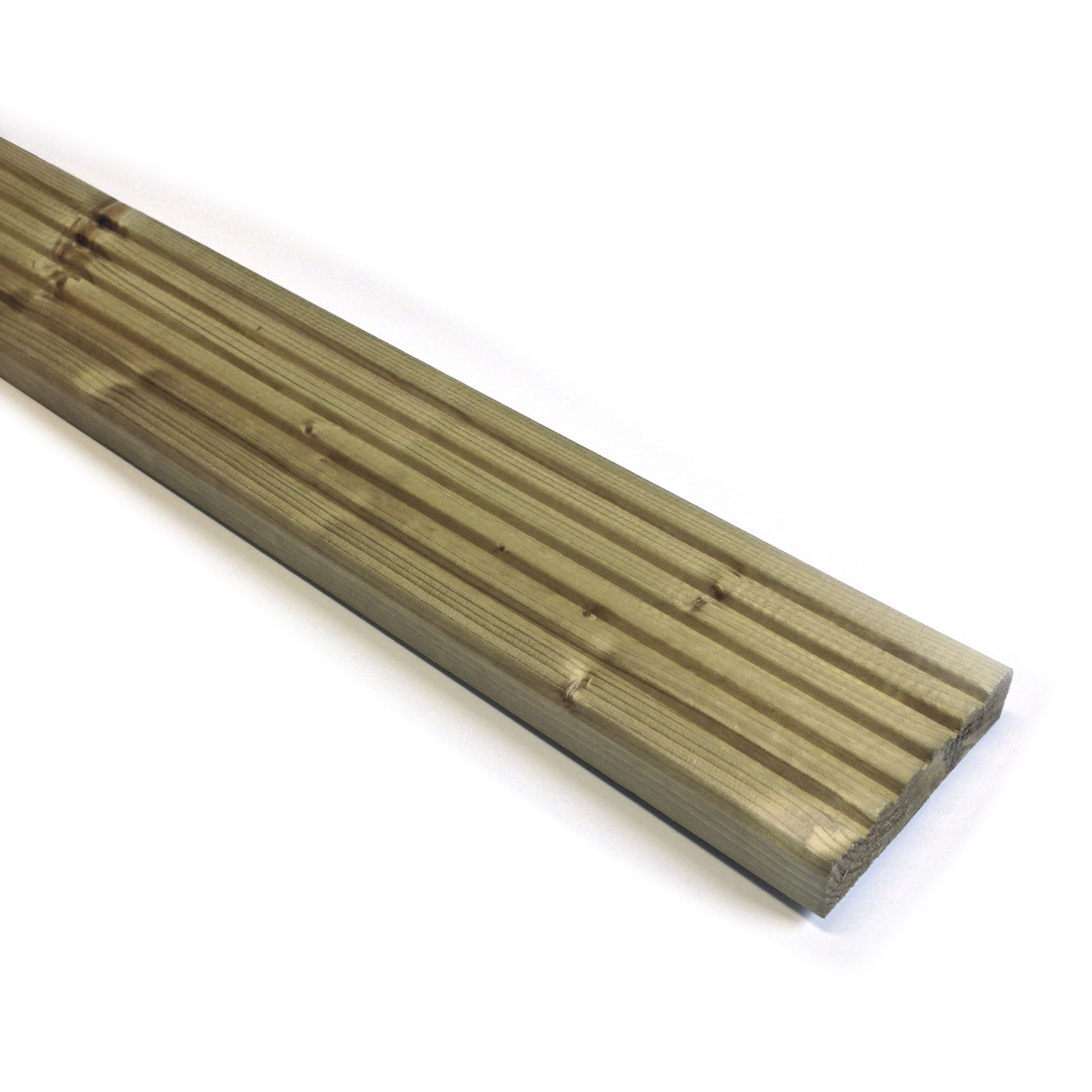 Softwood deck board t 25mm w 95mm l 1800mm for Softwood decking boards