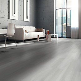 Whitewash Oak White Wood Effect Laminate Flooring 3