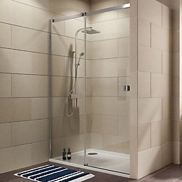 Cooke & Lewis Luxuriant Single Sliding Shower Door